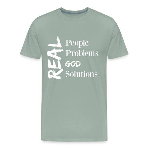 Real God (white logo) - Men's Premium T-Shirt