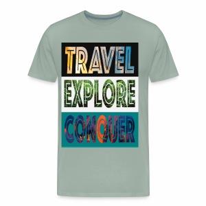 Travel, Explore & Conquer - Men's Premium T-Shirt