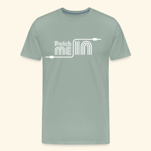 Patch Me In - White Logo - Men's Premium T-Shirt