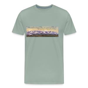 A True Montana Adventure - the Crazy Mountains - Men's Premium T-Shirt