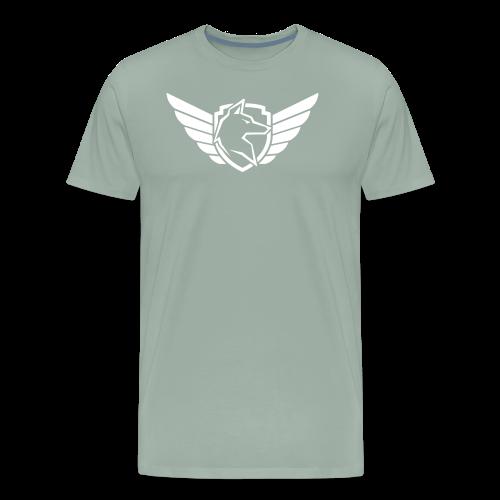 White Chest Logo - Men's Premium T-Shirt