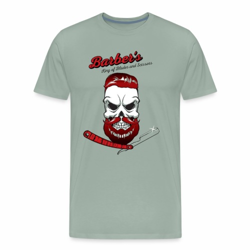 Barber's king of blades and sissors - Men's Premium T-Shirt