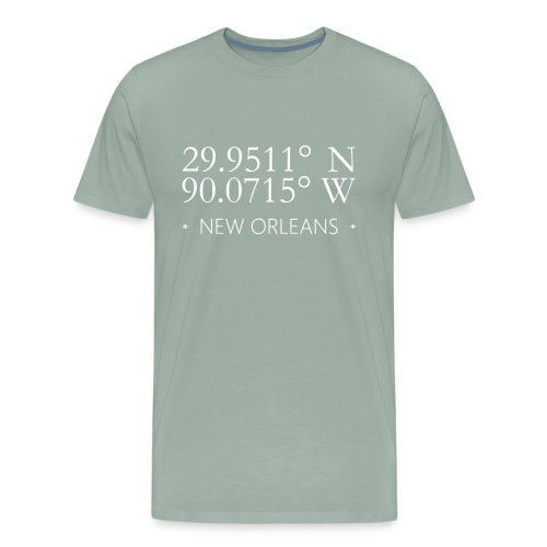 New Orleans Geographic Latitude Longitude - Men's Premium T-Shirt