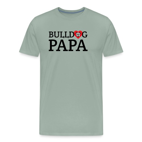 Bulldog Papa - Men's Premium T-Shirt