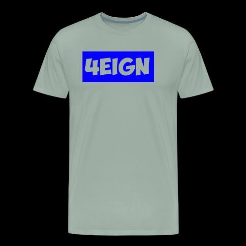 4eign logo BLUE - Men's Premium T-Shirt