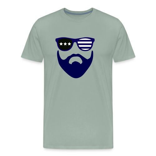 Blue beard-beard gang - Men's Premium T-Shirt