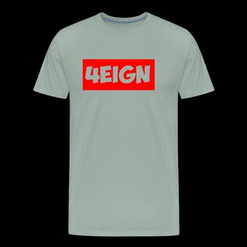 4eign Logo RED - Men's Premium T-Shirt
