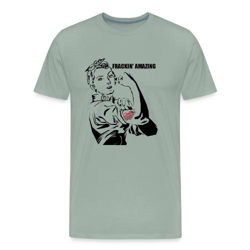 Female Engineer STEM Frackin' Amazing Rosie shirt - Men's Premium T-Shirt