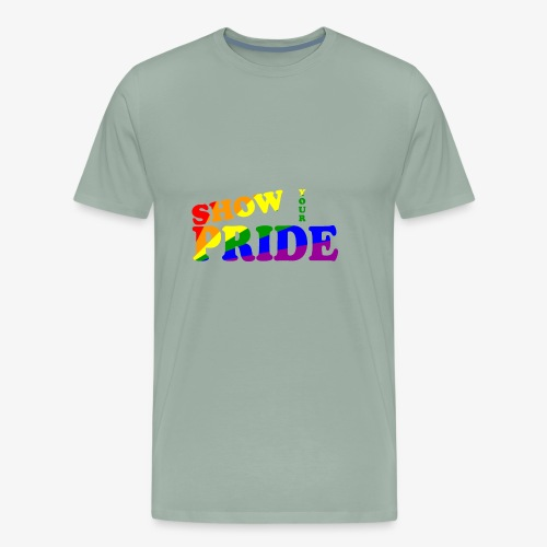 SHOW YOUR PRIDE A - Men's Premium T-Shirt