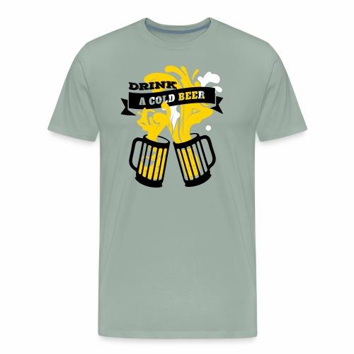 Beer festival Oktoberfest beer glass design - Men's Premium T-Shirt