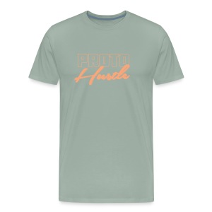 PROTO HUSTLE LOGO PEACH - Men's Premium T-Shirt