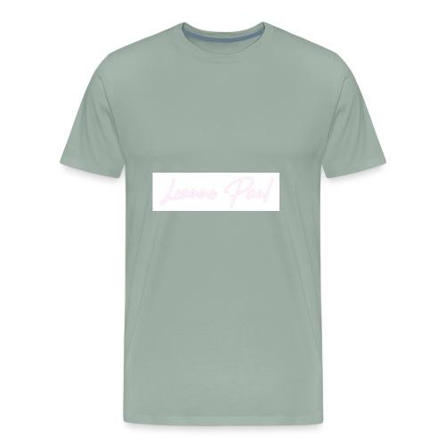 Leanne Paul White & Pink - Men's Premium T-Shirt