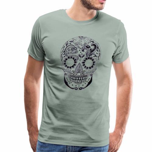 Calaber Zentangle black and White - Men's Premium T-Shirt