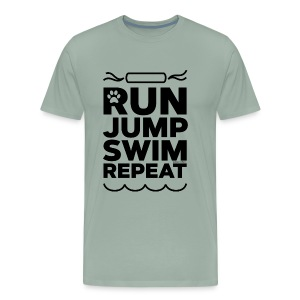 Run Jump Swim Repeat - black imprint - Men's Premium T-Shirt