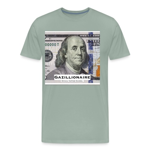 GAZILLIONAIRE with BENJAMIN FRANKLIN - Men's Premium T-Shirt
