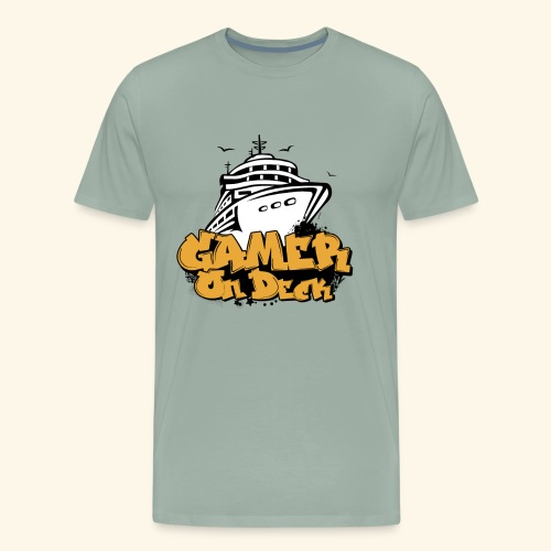 Gamer On Deck Graphic - Version 1-1 - Men's Premium T-Shirt