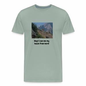 PhotoBomb Deer Funny Tee - Men's Premium T-Shirt