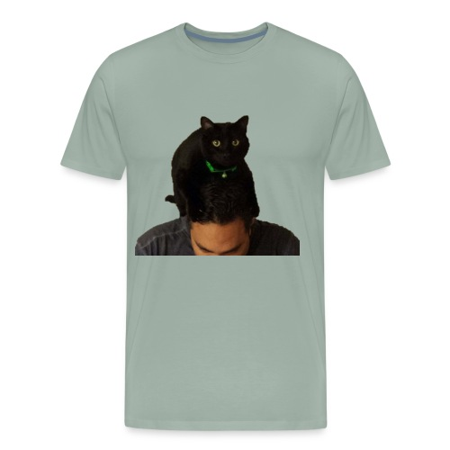 cat hat 2 cutout big - Men's Premium T-Shirt