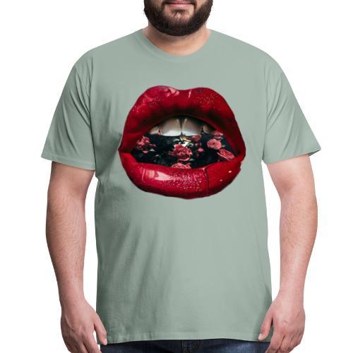 Lips N Roses - Men's Premium T-Shirt