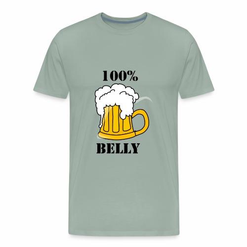 100% BEER Belly - Men's Premium T-Shirt