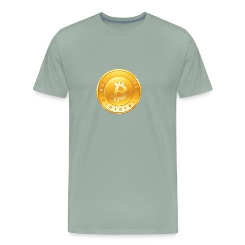 Bitcoin Coin Logo - Men's Premium T-Shirt