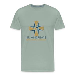 St. Andrew's logo on transparent background - Men's Premium T-Shirt