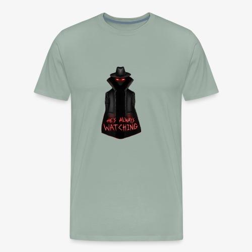 The Hatman is always watching - Men's Premium T-Shirt