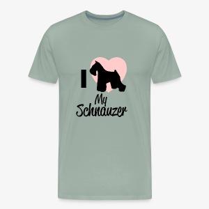 I Heart My Schnauzer T-Shirt for Dog Lovers - Men's Premium T-Shirt