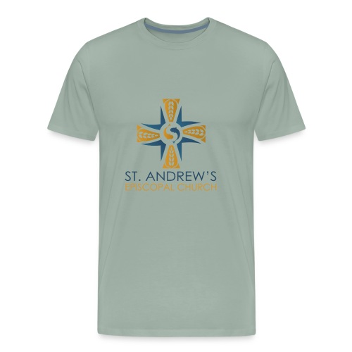 St. Andrew's logo on transparent background - Men's Premium T-Shirt