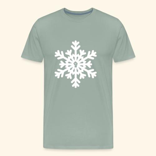 snowflake vector white - Men's Premium T-Shirt