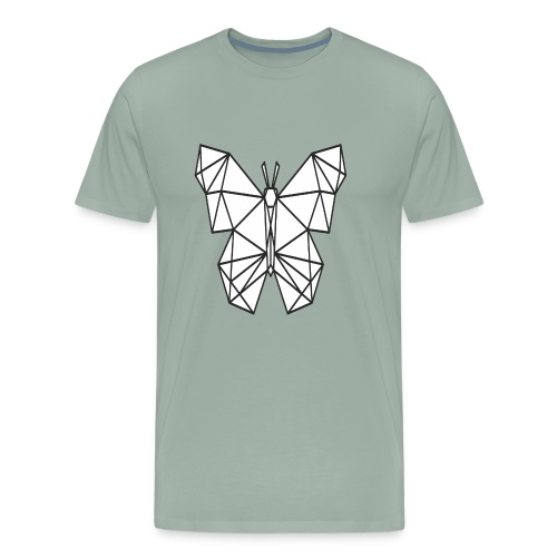 Butterfly Line Art - Men's Premium T-Shirt