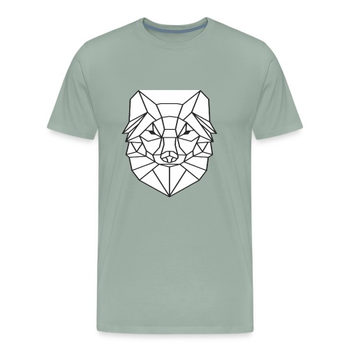 Wolf Line Art - Men's Premium T-Shirt