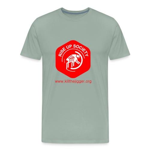 Rise Up Society Logo & Link - Men's Premium T-Shirt