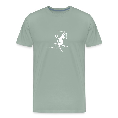 ski monkey funny - Men's Premium T-Shirt