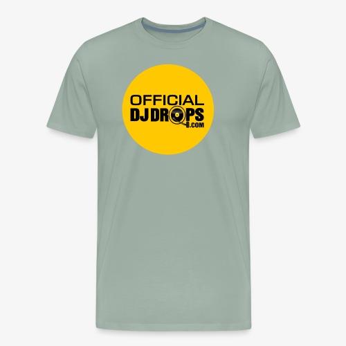 Official DJ Drops Gold Circle - Men's Premium T-Shirt