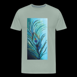 Peacock Feather - Men's Premium T-Shirt