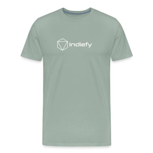 Indiefy Logo White - Men's Premium T-Shirt