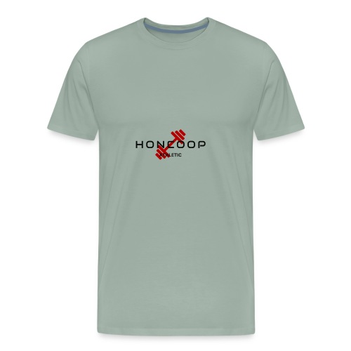 HONCOOP Athletic Black On Red Logo - Men's Premium T-Shirt