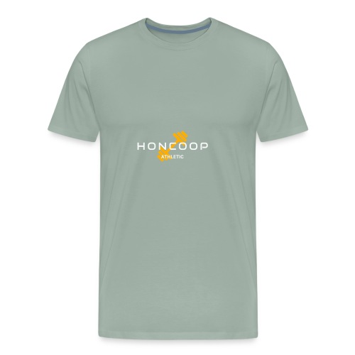 Honcoop Athletic White On Orange Logo - Men's Premium T-Shirt