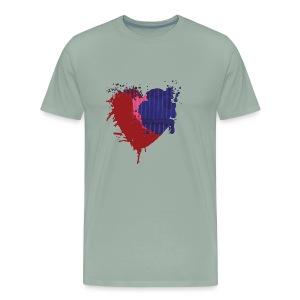 Painted Heart - Men's Premium T-Shirt