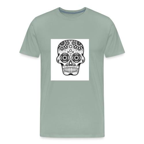 sugar skull black and white - Men's Premium T-Shirt
