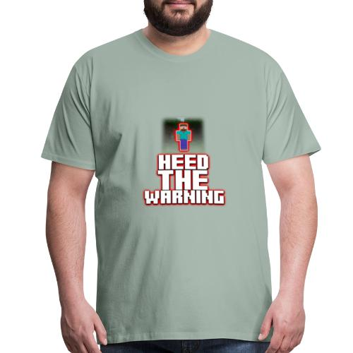 Heed The Warning #HerobrineMovie - Men's Premium T-Shirt