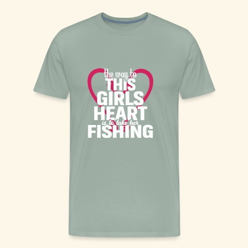 Fishing Shirts For Girls | Fishing Girls - Men's Premium T-Shirt