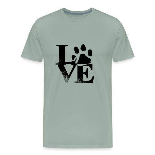 Luv Paw Print - Men's Premium T-Shirt