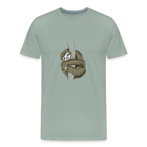 Sloth Animal cute Slow Nerd sleep chill out nap - Men's Premium T-Shirt