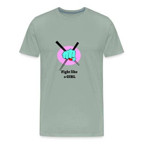 Fight like a girl - Men's Premium T-Shirt