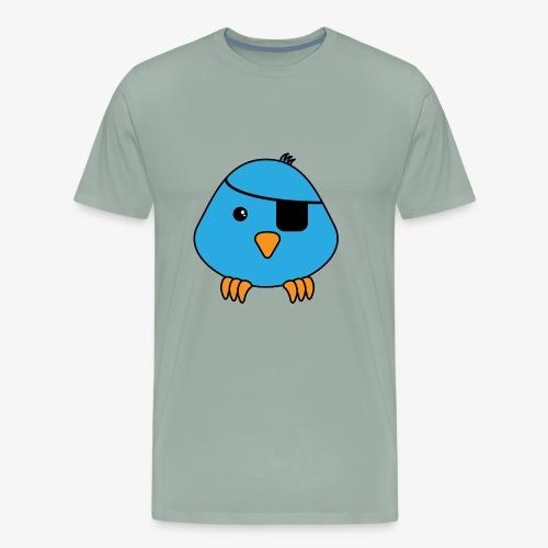 bird eyepatch - Men's Premium T-Shirt