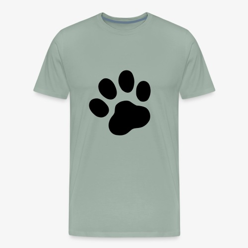 Cool dog paw symbol - Men's Premium T-Shirt
