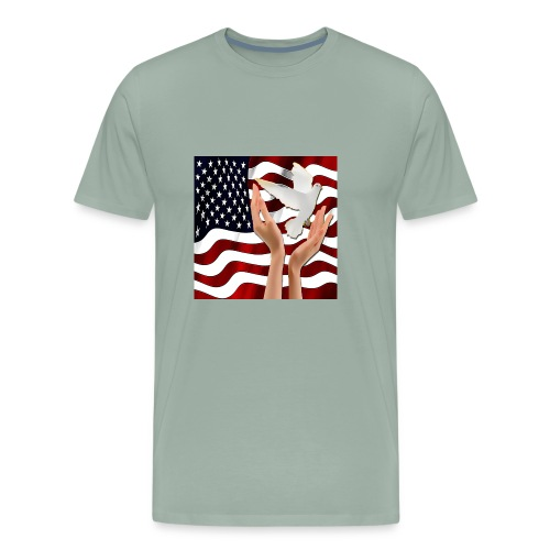 Peace in America - Men's Premium T-Shirt