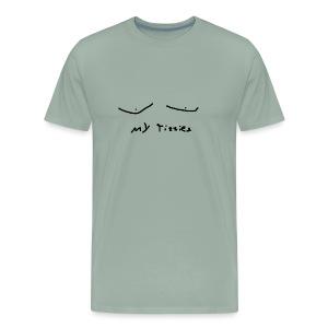 nice tits bro - Men's Premium T-Shirt